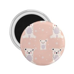 Cute Polar Bear Pattern 2 25  Magnets by allthingseveryday