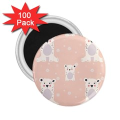 Cute Polar Bear Pattern 2 25  Magnets (100 Pack)  by allthingseveryday