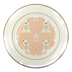 Cute Polar Bear Pattern Porcelain Plates by allthingseveryday