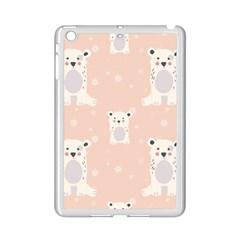Cute Polar Bear Pattern Ipad Mini 2 Enamel Coated Cases by allthingseveryday