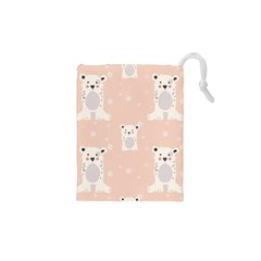 Cute Polar Bear Pattern Drawstring Pouches (xs)  by allthingseveryday