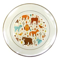 Woodland Friends Pattern Porcelain Plates by allthingseveryday