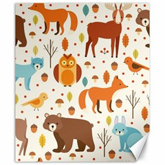 Woodland Friends Pattern Canvas 20  X 24   by allthingseveryday