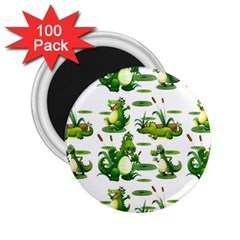 Crocodiles In The Pond 2 25  Magnets (100 Pack)  by allthingseveryday