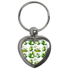 Crocodiles In The Pond Key Chains (heart)  by allthingseveryday