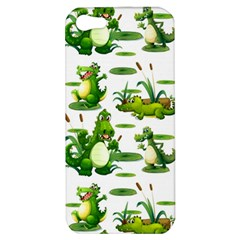 Crocodiles In The Pond Apple Iphone 5 Hardshell Case by allthingseveryday
