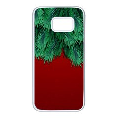 Xmas Tree Samsung Galaxy S7 White Seamless Case by jumpercat