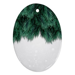 Snow And Tree Ornament (oval) by jumpercat