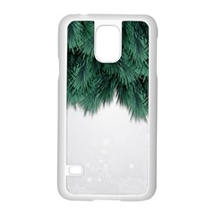 Snow And Tree Samsung Galaxy S5 Case (white) by jumpercat