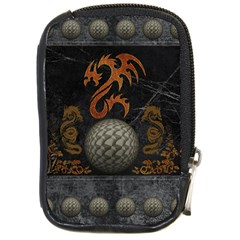Awesome Tribal Dragon Made Of Metal Compact Camera Cases by FantasyWorld7