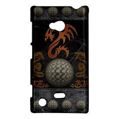 Awesome Tribal Dragon Made Of Metal Nokia Lumia 720 by FantasyWorld7