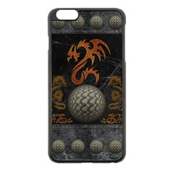 Awesome Tribal Dragon Made Of Metal Apple Iphone 6 Plus/6s Plus Black Enamel Case by FantasyWorld7