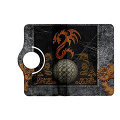 Awesome Tribal Dragon Made Of Metal Kindle Fire Hd (2013) Flip 360 Case by FantasyWorld7
