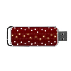 Christmas Light Red Portable Usb Flash (two Sides) by jumpercat