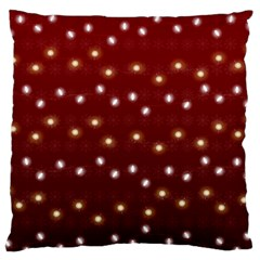 Christmas Light Red Standard Flano Cushion Case (one Side) by jumpercat