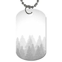 Winter Land Light Dog Tag (one Side) by jumpercat