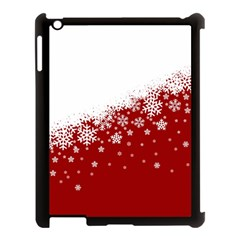 Xmas Snow 01 Apple Ipad 3/4 Case (black) by jumpercat