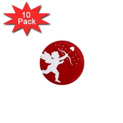 Cupid Bow Love Valentine Angel 1  Mini Magnet (10 Pack)  by Celenk