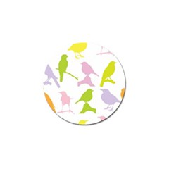 Birds Colourful Background Golf Ball Marker (4 Pack) by Celenk