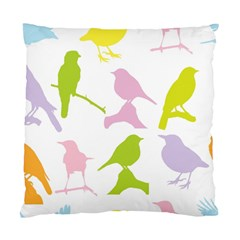 Birds Colourful Background Standard Cushion Case (two Sides) by Celenk