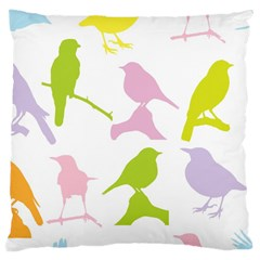 Birds Colourful Background Large Cushion Case (two Sides) by Celenk