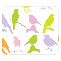 Birds Colourful Background Double Sided Flano Blanket (small)  by Celenk