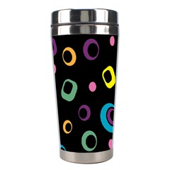 Abstract Background Retro 60s 70s Stainless Steel Travel Tumblers by Celenk