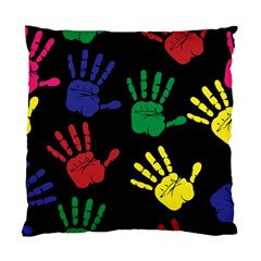 Handprints Hand Print Colourful Standard Cushion Case (two Sides) by Celenk