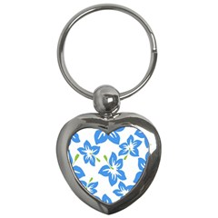 Hibiscus Wallpaper Flowers Floral Key Chains (heart)  by Celenk
