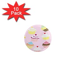 Cupcakes Wallpaper Paper Background 1  Mini Magnet (10 Pack)  by Celenk