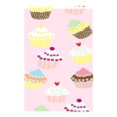 Cupcakes Wallpaper Paper Background Shower Curtain 48  X 72  (small)  by Celenk
