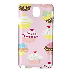 Cupcakes Wallpaper Paper Background Samsung Galaxy Note 3 N9005 Hardshell Case by Celenk