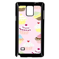 Cupcakes Wallpaper Paper Background Samsung Galaxy Note 4 Case (black) by Celenk