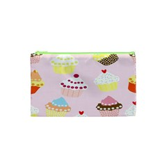 Cupcakes Wallpaper Paper Background Cosmetic Bag (xs) by Celenk