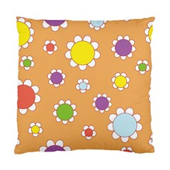 Floral Flowers Retro 1960s 60s Standard Cushion Case (two Sides) by Celenk