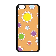 Floral Flowers Retro 1960s 60s Apple Iphone 5c Seamless Case (black) by Celenk