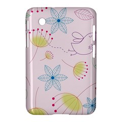 Floral Background Bird Drawing Samsung Galaxy Tab 2 (7 ) P3100 Hardshell Case  by Celenk
