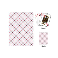 Hearts Pattern Love Design Playing Cards (mini)