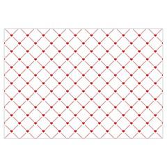 Hearts Pattern Love Design Canvas Cosmetic Bag (medium)