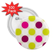 Polka Dots Spots Pattern Seamless 2 25  Buttons (100 Pack)  by Celenk