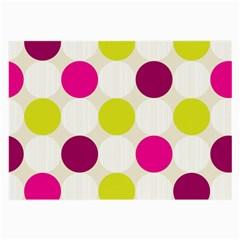 Polka Dots Spots Pattern Seamless Large Glasses Cloth by Celenk