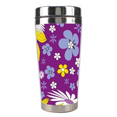 Floral Flowers Wallpaper Paper Stainless Steel Travel Tumblers by Celenk