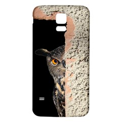 Owl Hiding Peeking Peeping Peek Samsung Galaxy S5 Back Case (white) by Celenk