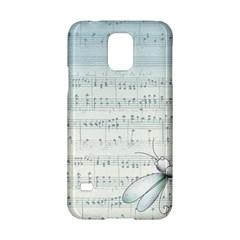 Vintage Blue Music Notes Samsung Galaxy S5 Hardshell Case
