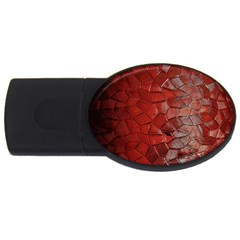 Pattern Backgrounds Abstract Red Usb Flash Drive Oval (2 Gb)