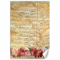 Background Old Parchment Musical Canvas 20  X 30   by Celenk