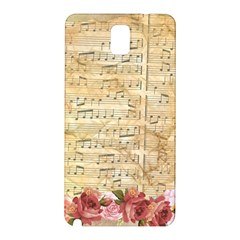 Background Old Parchment Musical Samsung Galaxy Note 3 N9005 Hardshell Back Case by Celenk