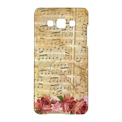 Background Old Parchment Musical Samsung Galaxy A5 Hardshell Case  by Celenk