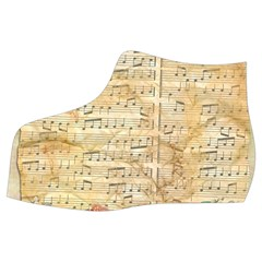 Background Old Parchment Musical Women s Mid Top Canvas Sneakers