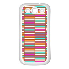 Color Grid 02 Samsung Galaxy S3 Back Case (white)